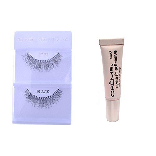 6 Pairs Crème 100% Human Hair Natural False Eyelash Extensions Black #747S Short Natural Lashes (Best False Lashes For Prom)