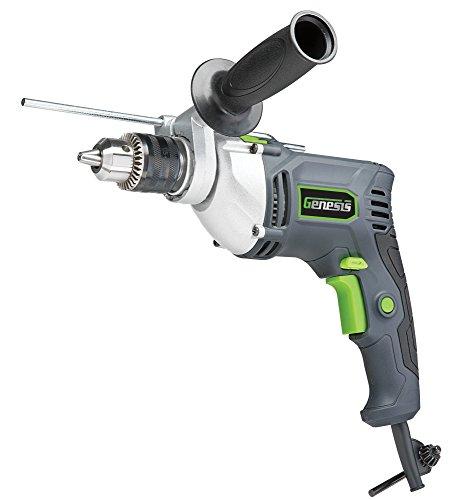 "Genesis 1/2"" 7.5 Amp Variable Speed Reversible Hammer Drill"