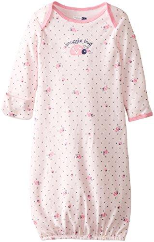 Vitamins Baby Baby-Girls Newborn Snuggle Bug 1 Piece Gown, Pink, 0-6 Months