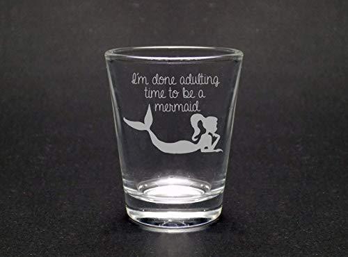 Adulting Mermaid Shot Glass (Shot Glass Mermaid)