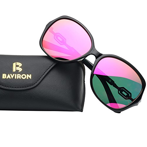 BAVIRON Polarized Oversized Sunglasses Butterfly Women's Vintage Sun Glasses - Makes The Sunglasses Who Polarized Best