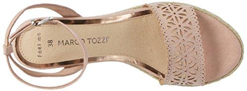 Marco Tozzi 28740, Sandalias con Cuña Para Mujer Rosa (Rose 521)