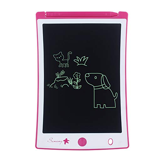 "LCD Writing Tablet,Electronic Writing &Drawing Board Doodle Board,Sunany 8.5"" Handwriting Paper Drawing Tablet Gift for Kids and Adults at Home,School and Office (Pink)"