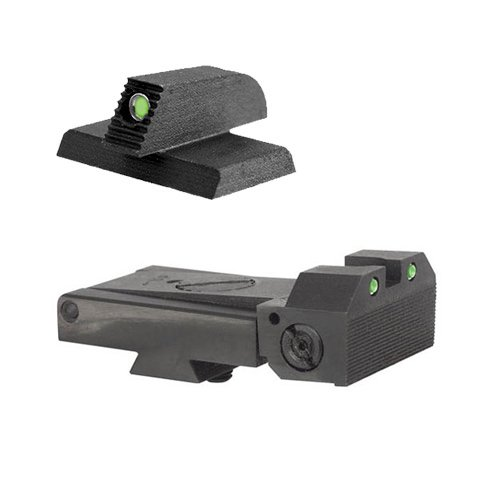 Kimber Adjustable Kensight 1911 Sight Set Trijicon Tritium insert - Night Sights - matching Front Sight by Kensight