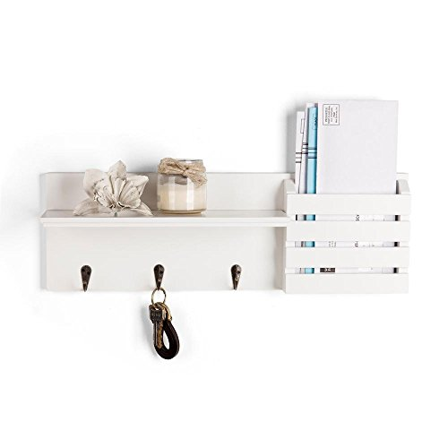 Slat Hanging Sunshine (Danya B. Utility Shelf with Pocket and Hanging Hooks)