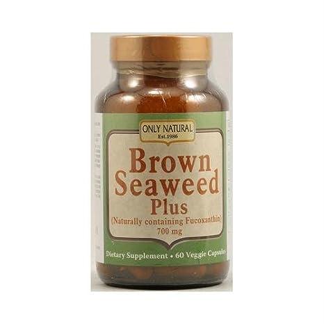 Only Natural - Alga marina marrón más 700 el magnesio. - 60 cápsulas vegetarianas: Amazon.es: Salud y cuidado personal