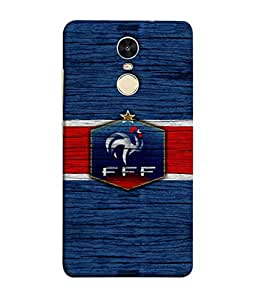 ColorKing Football France 16 Blue shell case cover for Xiaomi Redmi Note 4