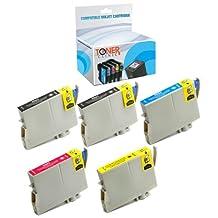 Toner Clinic ® TC-T060 5PK 2 Black 1 Cyan 1 Magenta 1 Yellow Remanufactured Inkjet Cartridge for Epson T060 60 #60 T0601 T0602 T0603 T0604 Compatible With Epson Stylus C68 C88 C88+ C88Plus CX3800 CX3810 CX4200 CX4800 CX5800 CX5800f CX7800 D68P D88 D88+ D88Plus DX3800 DX4800 T060120 T060220 T060320 T060420 - 5 Pack Remanufactured Inkjet Cartridges