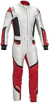 Amazon.com: Sparco lunargrid RS-6 Racing traje, 64, Blanco ...