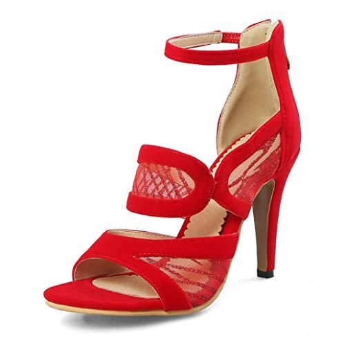 ANDERDM Women Gladiator Sandals High Heels Sandals Party Pumps Buckle Strap Sandals ()