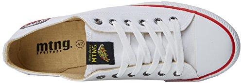 MTNG Emi, Sneakers Basses Homme Blanc Cassé (Canvas Blanco)