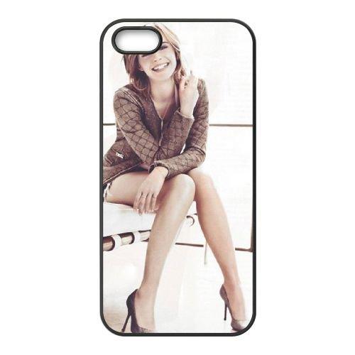 Emma Watson coque iPhone 4 4S cellulaire cas coque de téléphone cas téléphone cellulaire noir couvercle EEEXLKNBC24886