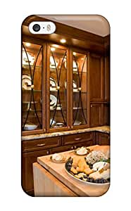Iphone 5/5s Case, Premium Protective Case With Awesome Look - Glass-front China Cabinet And Butcher Block Island