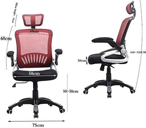 Skrivbordsstolar, ergonomisk kontorsstol datorstol hög rygg spelstol konferensstol ledig fåtölj nackstöd knästol