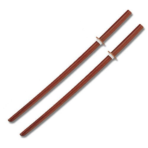 Wooden Daitos Training (2 Natural Wooden Bokken Practice Training Daito Sword SET)