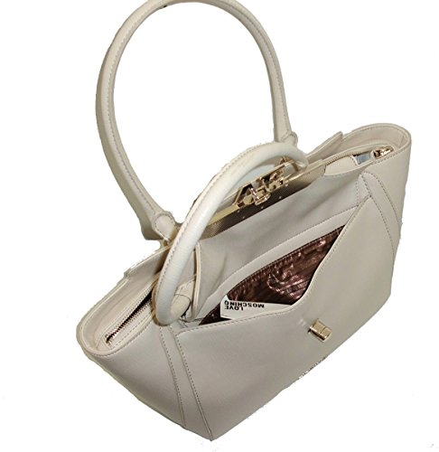 woman Love Moschino JC4017 saffiano AVORIO media handbag Borsa pvc shopping 1tdBWwdq