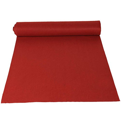 Amdirect Red Wedding Aisle Runner, 50-Feet by 3-Feet by Amdirect
