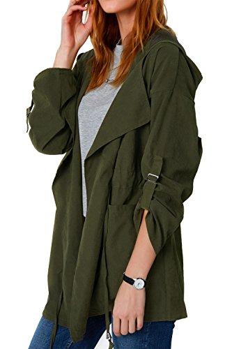 Cupshe Fashion Womens Hooded Cardigan