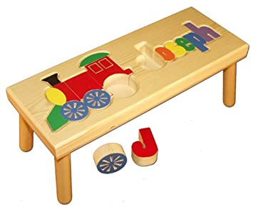 Phenomenal Amazon Com Personalized Wooden Childs Name And Train Ocoug Best Dining Table And Chair Ideas Images Ocougorg