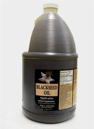 Sweet Sunnah Black Seed Oil Cold Pressed (First Pressing) 1 GALLON  (packaging may vary)