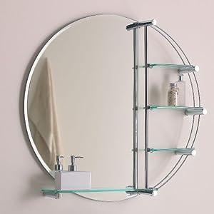 Round Bathroom Mirror Amazoncouk Kitchen Home