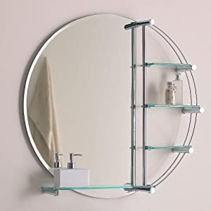 Round Bathroom Mirror By Endon Lighting