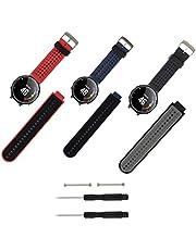 Molitececool compatibel met Garmin Forerunner 235 riem, zachte siliconen vervangende horlogeband voor Garmin Forerunner 235/235 Lite/220/230/620/630/735XT/Approach S20 S5 S6 Smart Watch