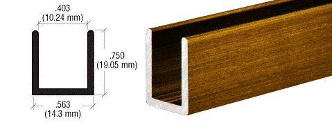 CRL Antique Brass Frameless Shower Door Aluminum Deep U Channel for 3 8 Thick Glass – 98 by CR Laurence