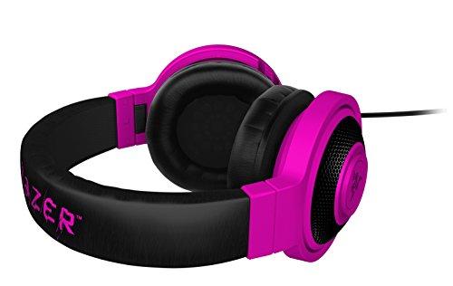 [해외]Razer Kraken PRO 오버 이어 PC 및 음악 헤드셋 - Neon Purple/Razer Kraken PRO Over Ear PC and Music Headset - Neon Purple