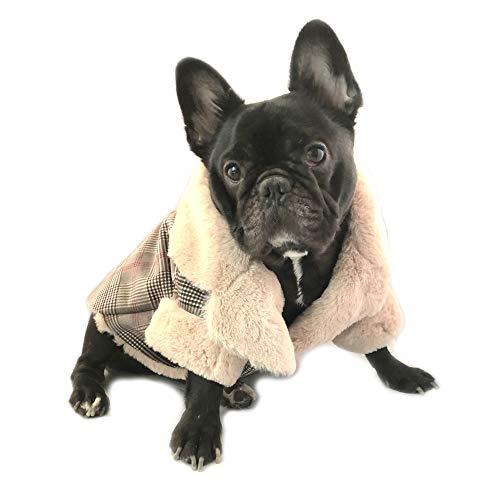 Dog Apparel Sweatshirt British Style Plaid Pet Vest