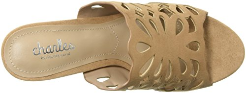 Charles Door Charles David Womens Nicki Slide Sandaal Naakt