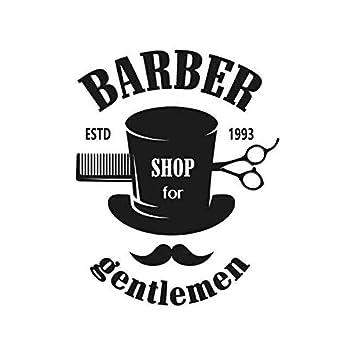 Barbería pegatina apliques peluquería cartel vinilo pared ...