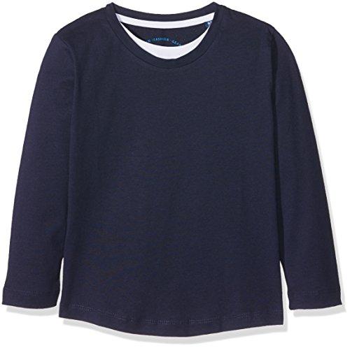 TOM TAILOR Kids Jungen T-Shirt Basic Two in One Longsleeve, Blau (True Dark Blue 6811), 110 (Herstellergröße: 104/110)