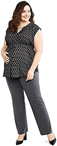 Motherhood Maternity Womens Plus-Size Bi-Stretch Secret Fit Belly Straight Leg Pant Business Casual Pants