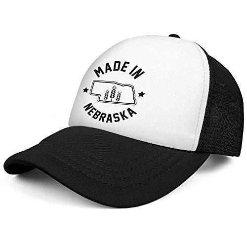 FPPING Made in Nebraska Mesh Ball Cap Unisex Vintage Low Profile Adjustable Sun Caps