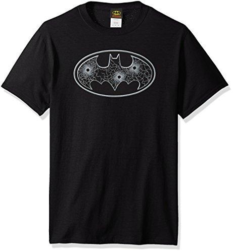 DC Comics Men's Batman Glass Hole Logo T-Shirt at Gotham City Store