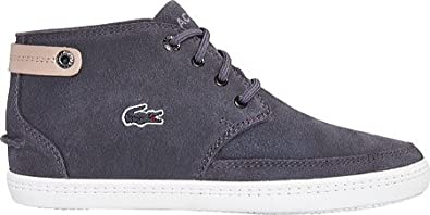 Lacoste Women's Clavel 116 1 High Top Sneaker,Dark Grey Suede,US 6.5 M