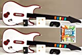 2 NEW WIRELESS Double Guitar Hero Game Controllers + NEW PS3 Band Hero Video Game Rock Band Music Bundle