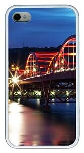 iPhone 4S Case, Guandu Bridge Taiwan TPU Custom iPhone 4/4S Case Cover Whtie