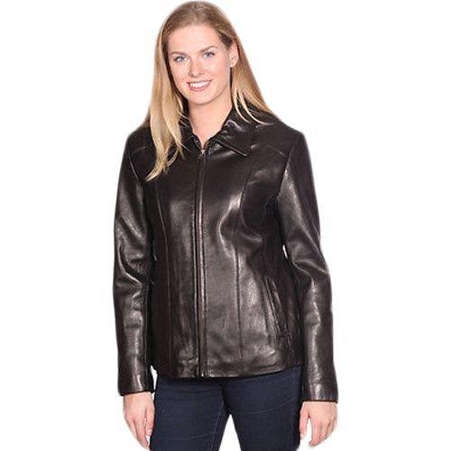 Women's Scuba Front Zipper Leather Jacket New Zealand Lamb Skin Very Soft(S)