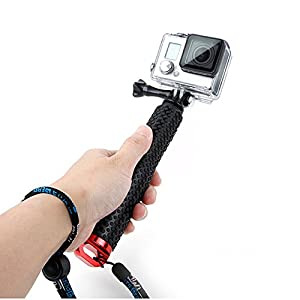 Vicdozia 19'' Waterproof Handheld Grip Extending Telescopic Monopod Compact Selfie Stick Gopro Accessory Pole Tripod Mount for Gopro Hero 5, Session, Hero 4 3 3+ 2 1 SJCAM SJ4000 Xiaomi Yi