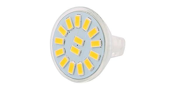 eDealMax DC 12V 4W MR11 5733 SMD 15 LED Bombilla LED Luz Lámpara de iluminación de la lámpara blanca fría - - Amazon.com