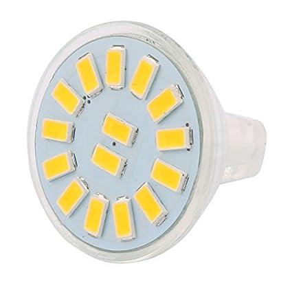 eDealMax DC 12V 4W MR11 5733 SMD 15 LED Bombilla LED Luz Lámpara de iluminación de