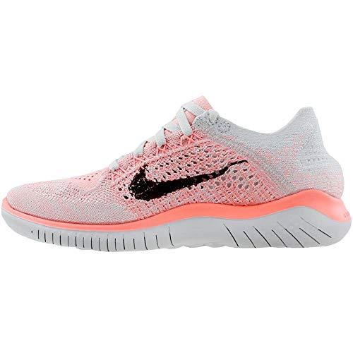 Nike Women's Free Rn Flyknit 2018 Crimson Pulse/Black Ankle-High Running Shoe - 5.5M by Nike (Image #3)