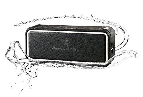 Bluetooth Speakers, Francois et Mimi Hydrolix 10W Hi-Fidelity IP67 Waterproof, Weatherproof and Shockproof...