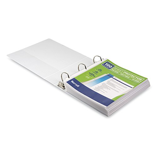 Samsill Heavyweight Non-Glare Poly Sheet Protectors, Box of 100, Acid Free & Archival Safe, Top Loading, Letter Size - 8.5 x 11 Photo #3