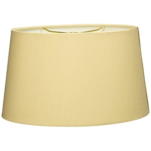 Oval lamp shades amazon royal designs shallow oval hardback lamp shade beige 10 x 12 x 7 aloadofball Gallery
