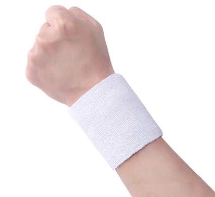 Amazon.com   12 PCS White Sweatbands 88cm Elastic Sports Wristband ... b5f89808421