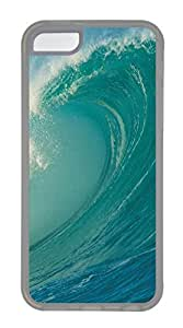 iPhone 5C Cases & Covers - Blue Sea Wave TPU Custom Soft Case Cover Protector for iPhone 5C - Transparent
