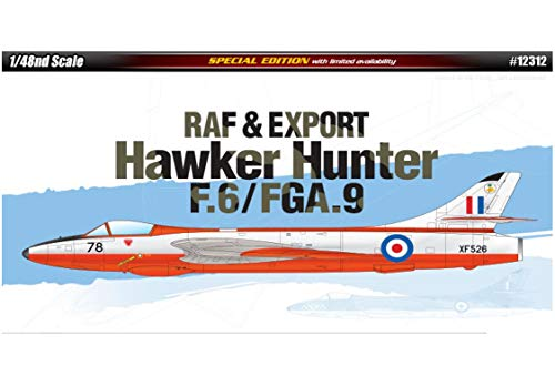 Academy 12312 RAF & Export Hawker Hunter F.6/FGA.9, 1/48 Scale Plastic Model Kit